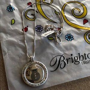 Brighton Caroling Snowman Christmas Necklace